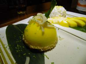 coconut kaffir lime pannacotta