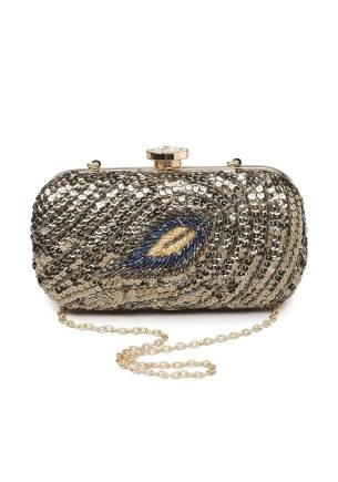 Bebe_Peacock Minaudiere Clutch_AED 350