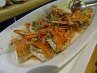 Marinated crab