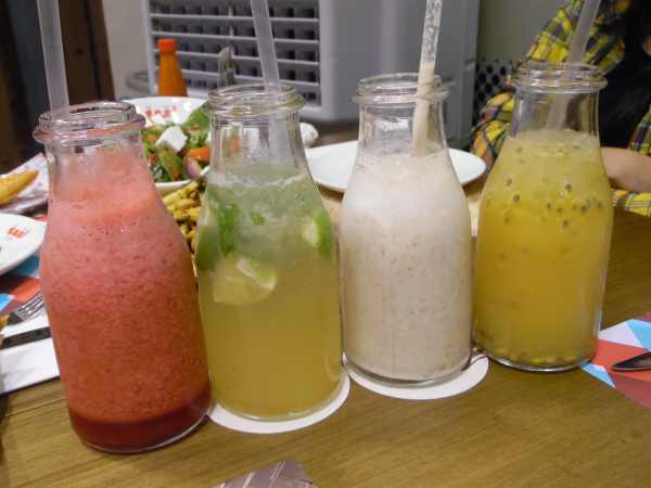 Berry blast, atlantis, logma shake, passion of arabia